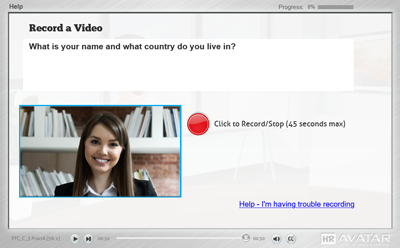 Recorded Video Interview Example Graphic